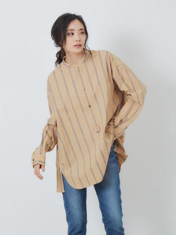 Rouge vif la cle - TICCA ノーカラーシャツ