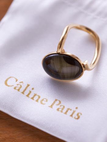 Rouge vif la cle - Caline Paris ストーンリング【予約】