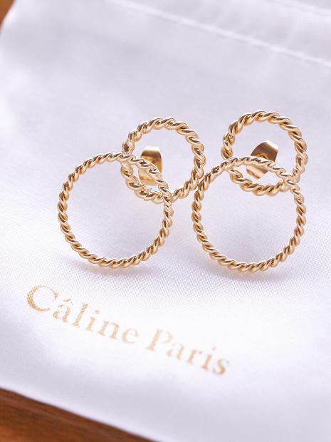Caline Paris クロスラインピアス