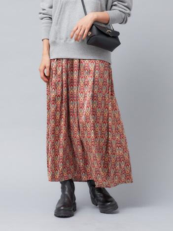 Rouge vif la cle - 【WEB&一部店舗限定】プリントマキシギャザースカート