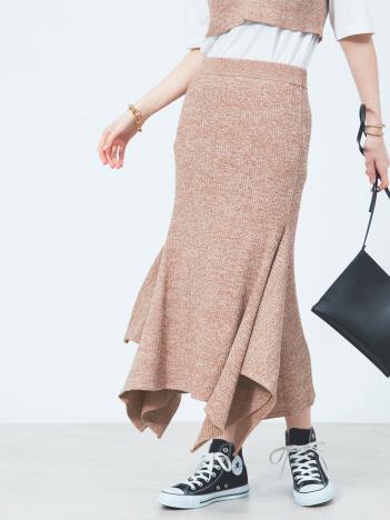 Rouge vif la cle - ニットヘムフレアスカート【予約】