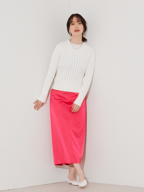 ウールサテンスカート