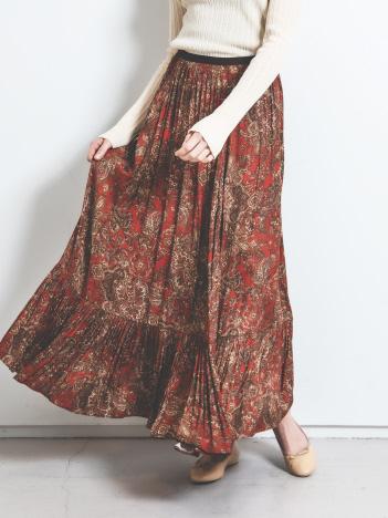Rouge vif la cle - オリエンタルプリントスカート