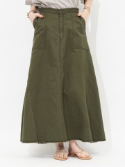 綿麻スカート