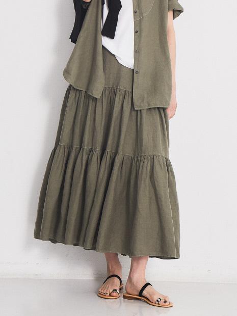 麻製品染スカート