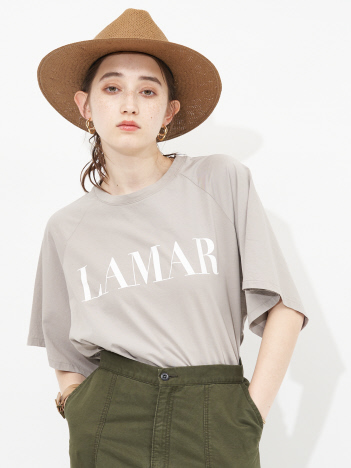 【MICA&DEAL】【WEB限定】LAMAR ロゴヘムラウンドラグランTシャツ