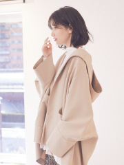 【WEB&一部店舗限定】フーディーミドル丈コート