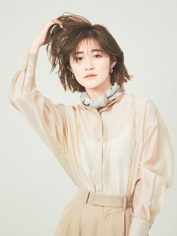 Rouge vif la cle - 【WEB先行販売】シアースタンドカラーシャツ