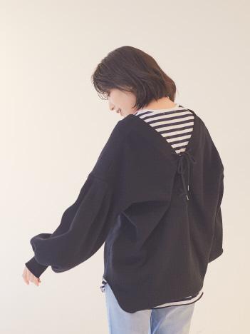 【WEB&一部店舗限定】2WAYワッフルプルカーデ