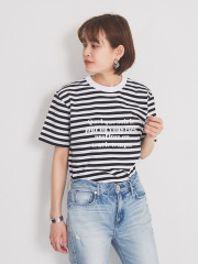 ボーダーフロントロゴTシャツ