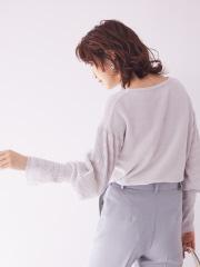 【WEB&一部店舗限定】ふんわりスリーブモールプルオーバー