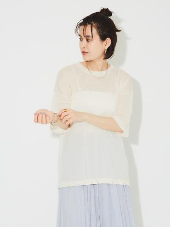 シアーニットTシャツ