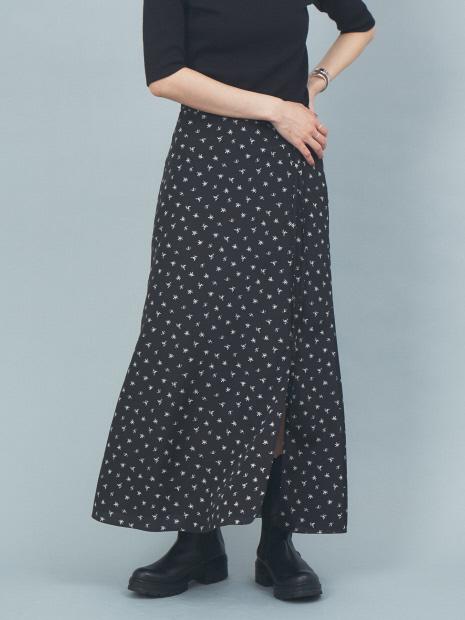 小花プリントスリットスカート