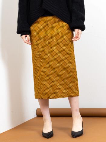 Rouge vif la cle - チェックタイトスカート【予約】
