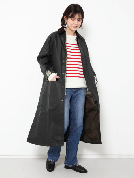【Barbour】 LADIES BURGHLEYロングコート