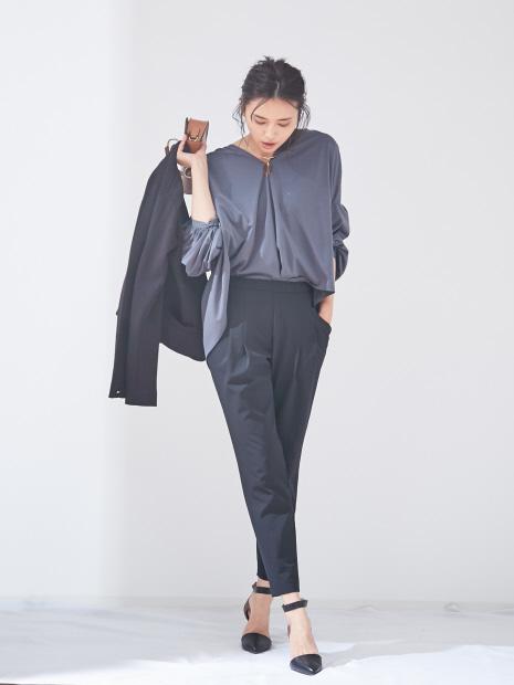 【size32-40】2WAYストレッチタックパンツ/新色登場