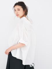 変形スタンドカラーシャツ