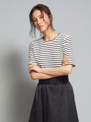 qualite - クルーネックニットTシャツ
