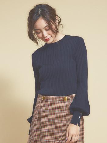 ワイドリブニットプルオーバー/人気色ネイビー・ベージュ予約受付中!