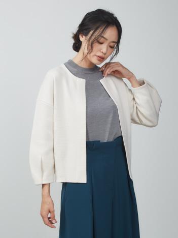 oggi×縄田さんコラボ フォルムニットジャケット