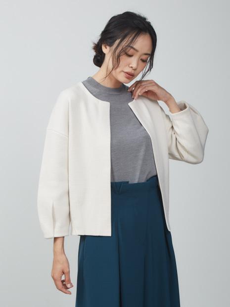 【新色先行予約】フォルムニットジャケット