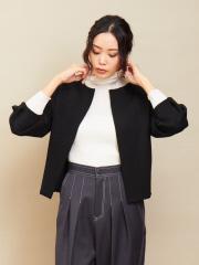 qualite - oggi×縄田さんコラボ フォルムニットジャケット