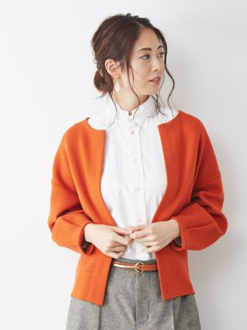 【新色入荷】フォルムニットジャケット