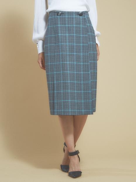 ガンクラブチェックタイトスカートパンツ