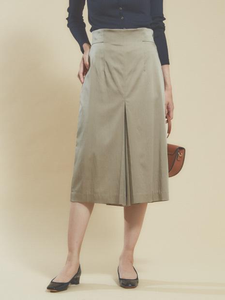 キュプラサテンタイトスカートパンツ