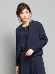qualite - サテンジョーゼットジャケット