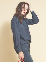 qualite - スタンドカラーボタンシャツ