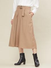 qualite - ベルト付きスカーチョパンツ