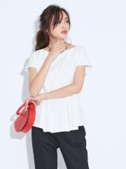 qualite - 2WAYストレッチペプラムシャツ