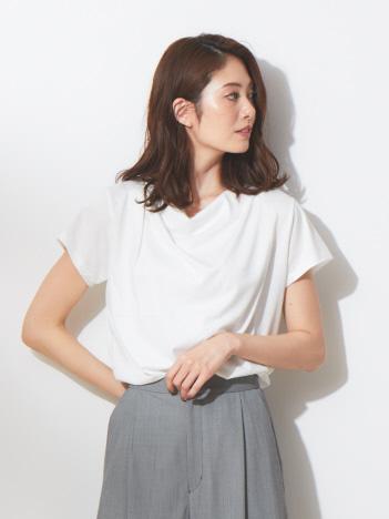 【夏色入荷!!】スーピマコットンドレープカットソー