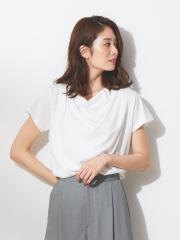 qualite - スーピマコットンドレープカットソー【予約】