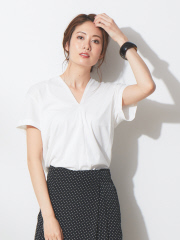 qualite - 【夏色入荷!!】スーピマコットンVネックカットソー