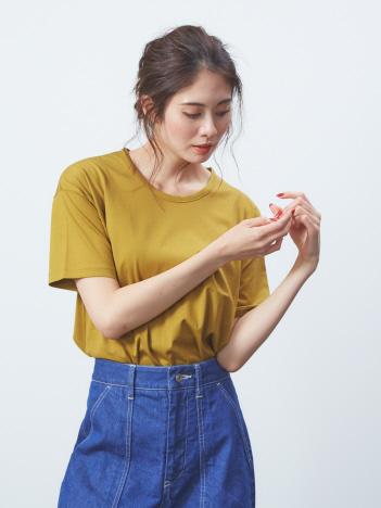 スーピマコットンベーシックTシャツ
