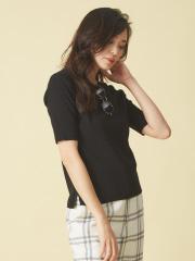 qualite - ウォッシャブルベーシックニットTシャツ