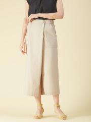 qualite - リネンジャージタイトスカートパンツ