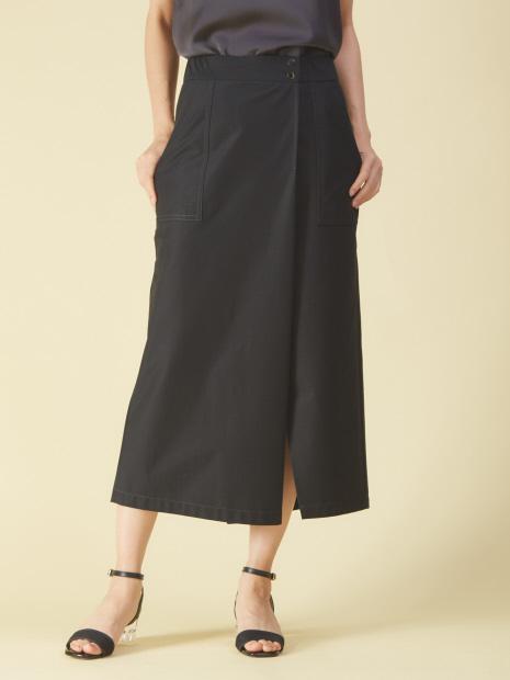 リネンジャージタイトスカートパンツ
