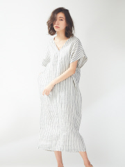 qualite - 【WEB限定】2WAYカフタン風ワンピース【予約】