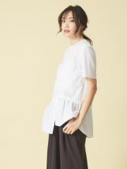qualite - クルーネックアシメシャツ