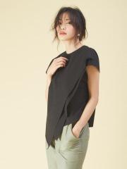 qualite - サイドニュアンスシャツ
