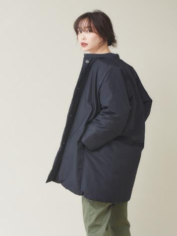 qualite - ナイロンオックスダウンコート【予約】