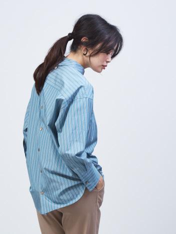 qualite - スタンドバック釦シャツ