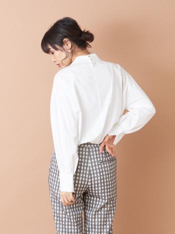 qualite - ハイネックパフ袖カットソー
