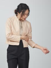 qualite - ジップアップスタンドレザージャケット【予約】