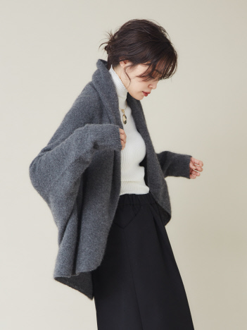 qualite - 【昨年大ヒット】カシミヤ2WAYカーディガン