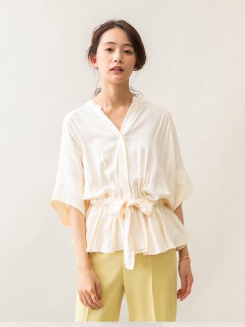qualite - 【anana】ウエストドロストシャツ