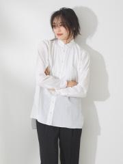 qualite - スタンドカラーベーシックシャツ【予約】